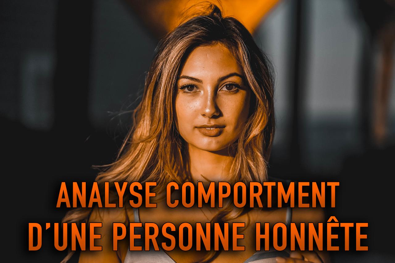 COMPORTEMENT D'UNE PERSONNE HONNÊTE